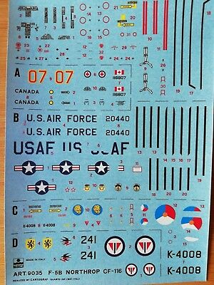 1:72 Esci Decal - #9035 F-5B Northrop / CF-116. Without instructions.