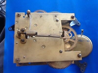 Vintage Mantle Clock Brass Movement Striking,parts,restore