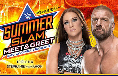 WWE SummerSlam Meet & Greet with Triple H & Stephanie McMahon