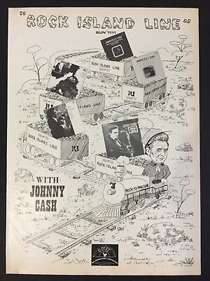 "Johnny Cash Original 11X14"" Promo Ad ""Rock Island Line"""