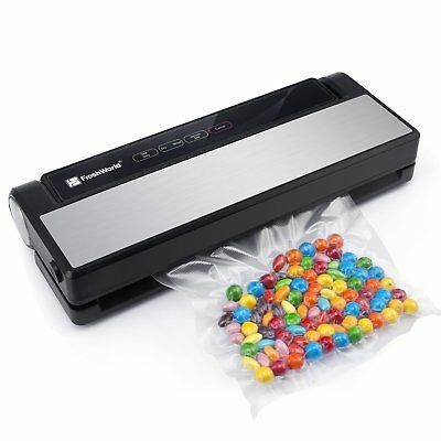 Vacuum Sealer Fresh World 4 in 1 Automatic Stainless Steel Food Sealer with T...