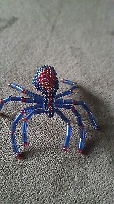 Hand Beaded Spider Ornament