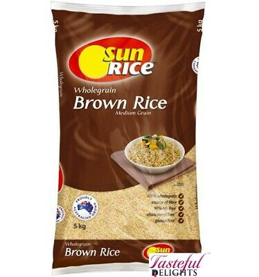 Sunrice Medium Grain Brown Rice 5kg