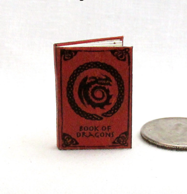 HOW TO TRAIN YOUR DRAGON BOOK Of Dragons Miniature Book Dollhouse 1:12 Scale