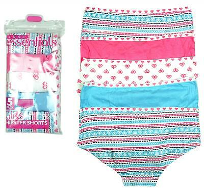 Girls Briefs 5 Pack Knickers Pastel Colours Pants Hipster Shorts 5 to 13  Years 33657399a
