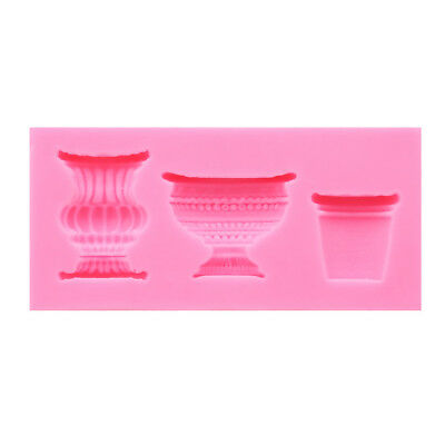 DIY Pink Wine Glass Pot Fondant Cake Mold Chocolate Mold Decor Tool D