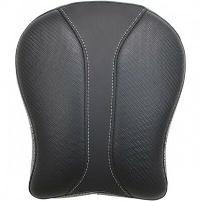 Solo pillion pad dominator / rear / gel|vinyl / carbon look - Saddlemen SA1009