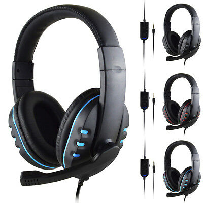 GAMING STEREO HEADSET Wired Headphone with Mic for Sony PS4 PlayStation 4  Blue U