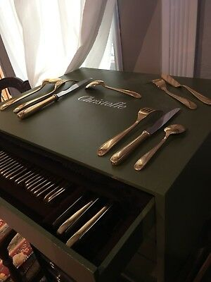 CHRISTOFLE GOLD SET  117 PIECES with chest CLEMENT MAROT - BERAIN