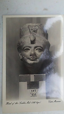 Egypt Cairo Museum HEAD OF GODDESS MUT Lehnert Landrock Real Photo RPPC Postcard