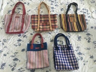 Lot Of 5 Small Longaberger Totes Nice!