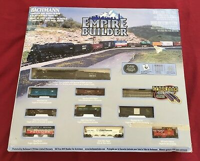Bachmann Empire Builder N Scale Electric Train Set #24009 - Excellent Condition