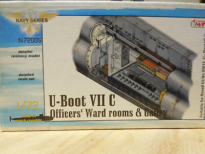 CMK -- U-boot VIIC -- Zubehör 1:72 --  Officers Ward rooms & Gally