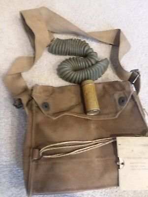 Original WW1 US Army Gas Mask Bag Pouch And Accessories