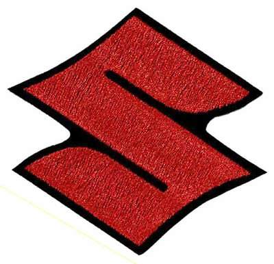 Suzuki S Embroidered Red Patch - Suzuki - Hayabusa - GSXR