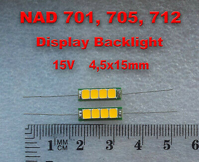 NAD 705 Display Backlight LED Lamp Upgrade Kit 15V 20x5mm
