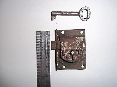 Antique longcase Clock Brass Lock and Key C1800