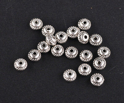 5mm Tibetan Silver Round Zinc Alloy Metal Charms Loose Spacer Beads Wholesale