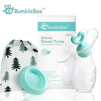 Bumblebee Manual Silicon Breast Pump with Heavy Duty Breast Milk Collection Cups