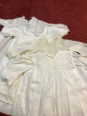 Antique Vintage Baby Gowns - Qty 4