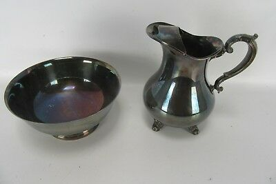 """Two Pieces Gorham Silverplate: Water Pitcher and 9"""" Fruit/Decorative Bowl."""