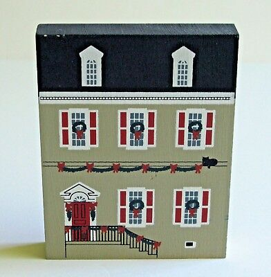 Cats Meow Village Dulany House Colonial Virginia 1990 Christmas Series