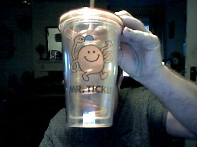 Mr Tickle Tumbler With Straw Perfect Birthday Gift Free Uk Post