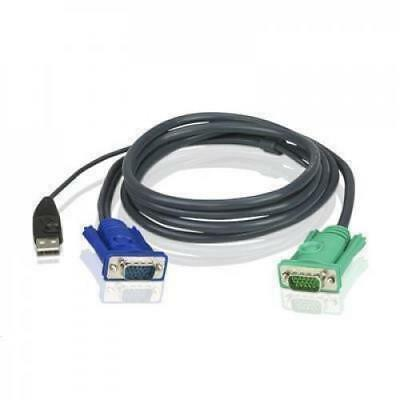 Aten 2L-5203U (3m) USB KVM Cable 3in1 SPHD(Keyboard/Mouse/Video) for CS1742, CS1