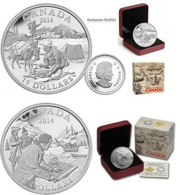 2014 Silver $15 Exploring Canada The Gold Rush & West Coast Exploration Coin Set