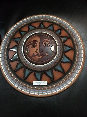 """Bruce Linder Designs Sun 12 1/2"""" And 7 1/2"""" Wall Art on Red Clay New"""