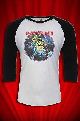 Piece of Mind Vintage 1983 Tour JERSEY T-SHIRT FREE SHIP USA Heavy Metal