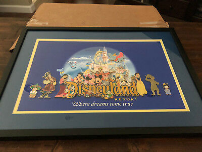 "Disneyland Resort - Framed Pin Set - ""Where Dreams Come True"""