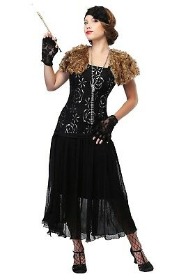 LADIES PLUS SIZE CHARLESTON FLAPPER SIZE 1X (missing sash, headband and gloves)