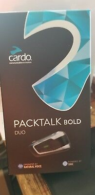 New Cardo Scala Rider Packtalk Bold Duo Bluetooth Motorcycle Communication Syste