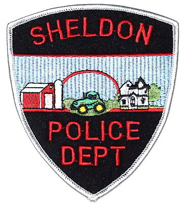 SHELDON ILLINOIS IL Police Sheriff Patch JOHN DEERE TRACTOR BARN FARM HOME ~