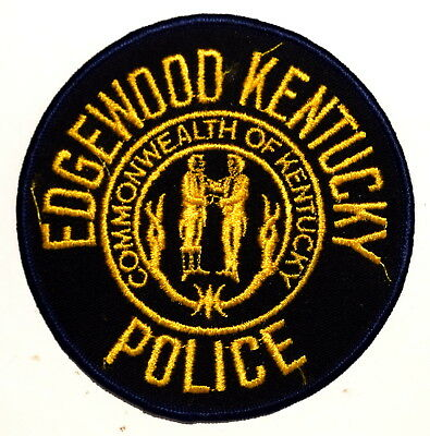 EDGEWOOD KENTUCKY KY Police Sheriff Patch STATE SEAL VINTAGE OLD MESH ~