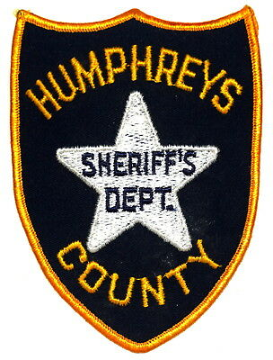 HUMPHREYS COUNTY MISSISSIPPI MS Police Sheriff Patch VINTAGE OLD MESH LARGE ~