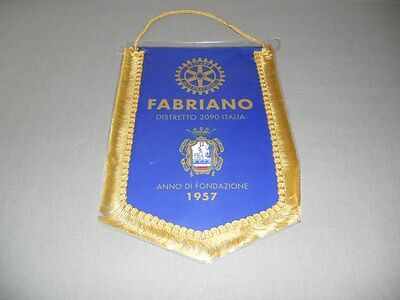 New Rotary International Fabriano Italy District 2090 Banner Flag 8 X 10