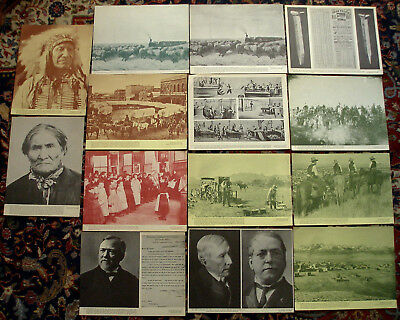 Vtg Documentary Photo Aids 14 Prints of Historical Events & People 1866-1900