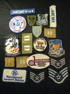 Authentic Old Military Cloth Patches 18 Pc Lot VietNam WWII Korea Mixed Era Lot