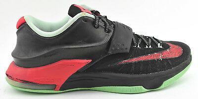 pretty nice 73ece 5738b Mens Nike Kd Vii 7 Basketball Shoes Size 8.5 Bad Apple Black Red Green  653996