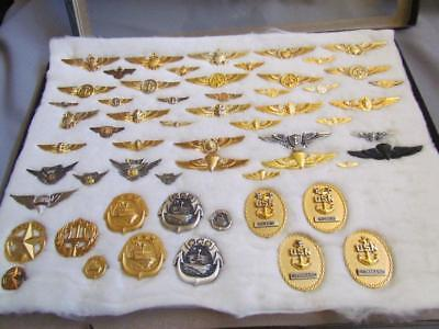 Mixed Lot Navy Pins some Sterling Silver