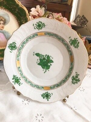 Herend Hungary Chinese Bouquet Green Salad Plate