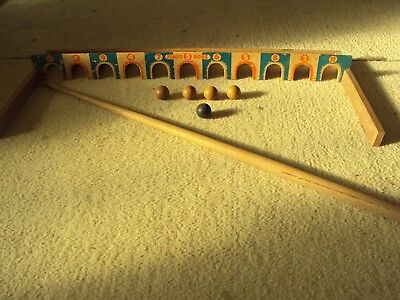 Collectable Vintage Jumbo Bobs Set Game In Original Box Instructions Balls Cue