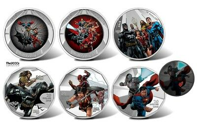 2018 Justice League Silver & Lenticular 5 Coin Set