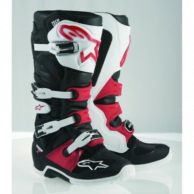 Bottes cross tech 7 black/white/red - taille 52 Alpinestars 2012014-123-16