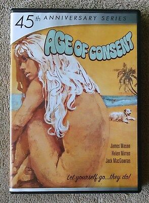 Age of Consent DVD 45th Anniversary Series Helen Mirren James Mason VG