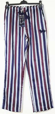 Peter Alexander Mens Plum Cotton Striped PJ Pant Sz S, M, L, XXL NWT