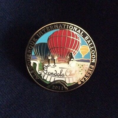 2011 Albuquerque International Baloon Fiesta-Gondola Club Pin-Unique 3-D Pin