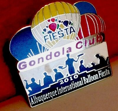 2010 Official Gondola Club Albuquerque Int'l Balloon Fiesta Pin-New, Never Used